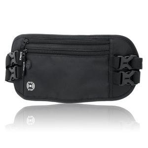 ECENCE Bauchtasche mit RFID Blocker, NFC Schutz Hüfttasche, Bauchgurt für Damen, Herren, Kinder,