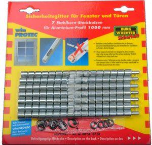 Burg-Wächter WP SK 107 SB, 7 Stahlkernbolzen für WP Profil 100 für Gitter winProtec