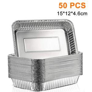50 Stück Aluschalen   Passend für Napoleon & Broil King Grills Alu-Tropfschalen, Grillschalen, 15*12*4.6 cm