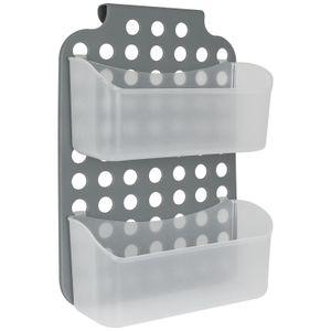 Duschregal 2 Ablagen zum hängen - Duschkorb Duschablage Ablage Badezimmer Hängeregal