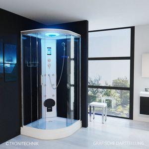 TroniTechnik Duschtempel Fertigdusche Duschkabine Dusche Glasdusche Eckdusche Komplettdusche S100XD2KG01 100x100