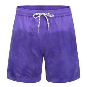 Herren Aquarellwechsel Badehose Strandhose Warme Farbwechsel Shorts Größe:M,Farbe:Rot
