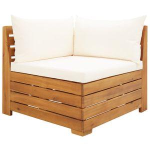 vidaXL Modular-Sofa-Eckelement 1 Stk. mit Kissen Akazien Massivholz