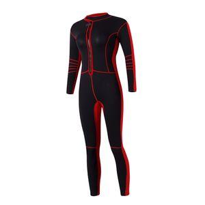 3mm Neopren Damen Neoprenanzug Jacke Black \\u0026 Red zum Tauchen Schwimmen M M. Frauen Schwarz + Rot