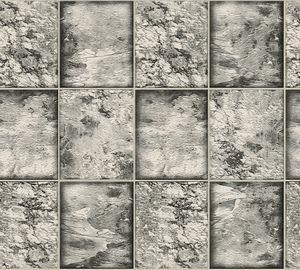 A.S. Création Fliesentapete Il Decoro Vinyltapete schwarz weiß silber 10,05 m x 0,53 m