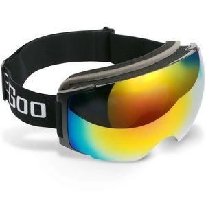 Skibrille Snowboard Brille UV-Schutz Anti-Fog Skibrille Für Damen und Herren Jungen und Mädchen