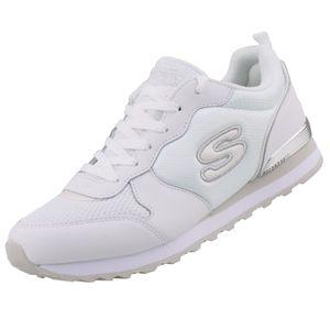 SKECHERS 111/WSL OG 85-Goldn Gurl Damen Sneaker weiß/silber, Größe:40, Farbe:Weiß