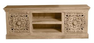 SIT Möbel Lowboard | 2 Türen, 2 offene Fächer | Mango-Holz natur | B 150 x T 40 x H 60 cm | 13715-01 | Serie LAKADEE