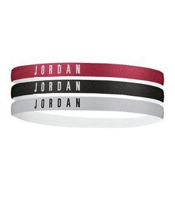 NIKE 9010/8 Jordan Headbands 3PK 1758 626 gym red/black/wolf gr -