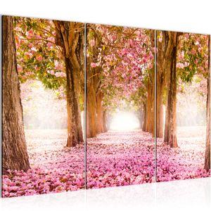 Wald Landschaft BILD 120x80 cm − FOTOGRAFIE AUF VLIES LEINWANDBILD XXL DEKORATION WANDBILDER MODERN KUNSTDRUCK MEHRTEILIG 605631a