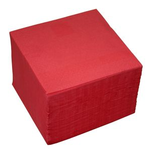 100 Servietten 2-lagig ca. 24x24cm rot
