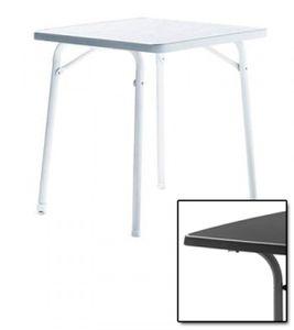 SIEGER Gartentisch/ Klapptisch 70x70cm Stahl grau / Mecalit anthrazit
