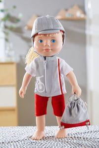 HABA Kleiderset Fahrradzeit, Puppenkleidung für 30 cm Puppen, 4-tlg., Polyester, 305556