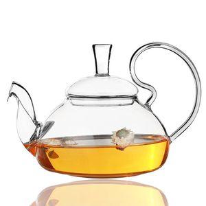 Kaffeeserver Teekanne Teekanne Wasserkocher Hitzebest?ndiges wirtschaftliches Glas Restaurant Sieb