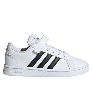 Adidas Kinder Sneaker  Synthetikkombination weiss 35