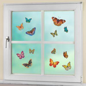 Fensterbilder Aufkleber selbstklebend Schmetterlinge, 13-teilig