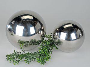 Gartendeko Gartenkugel Dekokugel Dekoobjekt Edelstahl glänzend 25 cm | Modern Edel Stilvoll