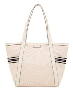 Esprit Damen Handtasche Tasche Shopper Cherry Shopper Beige 030EA1O324