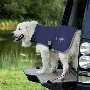 Horseware Rambo Dog Dry Rug 0g - Navy/Silver, Größe:XS