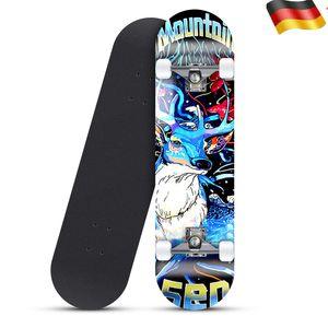 Skateboard mit ABEC 5 Kugellager 79cm - PolyurethanDämpfer + PolyurethanRollen Komplettboard
