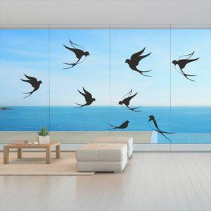 Fenster Aufkleber Fensterbild Vögel Warnvögel Schwalben Vogel Wintergarten Scheiben Vogelschutz Farbe schwarz