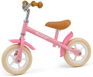 Milly Mally Laufräder 2 Räder loopfiets Marshall 10 Zoll Junior Freilauf Rosa/Creme