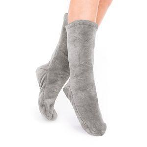Socken Kuschelsocken Flauschsocken One Size Wintersocken Einheitsgröße Stahl