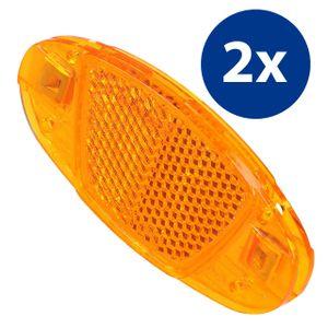 mumbi 2x Katzenaugen Speichen Reflektoren Fahrrad Speichenreflektoren orange StVZO