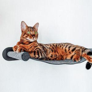 Filz-Hängematte mit Metallhalterung zur Wandmontage für Katzen