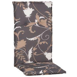 Gartenstuhl-Auflage Barcelona – Hochlehnerauflage für Gartenstühle, Dessin:Grau / Beige / Creme M918, Anzahl:1x
