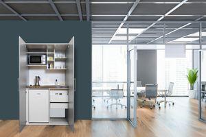 respekta Schrankküche Küche Miniküche Küchenzeile Single Küchenblock Silber Grau
