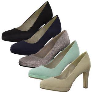 Tamaris 1-22408-24 Damen Plateau Pumps High Heel, Größe:40 EU, Farbe:Silber