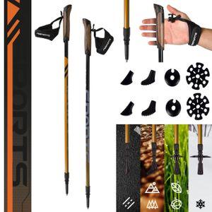 Nordic Walking Stöcke Carbon Premium - aus hochwertigem Carbon - auswählbar mit Tragetasche - Walking Sticks, Farbe:Nordic Walking Stöcke Carbon