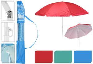 Sonnenschirm Ø 138 cm Strandschirm Schirm mit 3 Haken Strand Urlaub UV Schutz BLAU