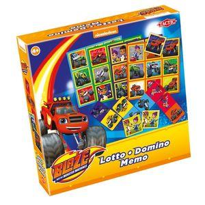 Tactic 3-in-1-Spiele (Memo, Lotto, Domino) Blaze