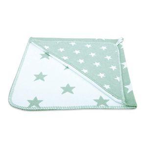 Baby's Only Kapuzendecke Star - Mint/Weiß - 75x75 cm