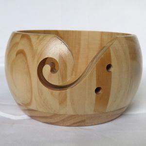 Strick garn schüssel gefertigte weberei faden sammel halter organizer sammler Farbe Holz