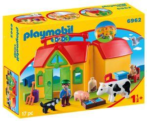 PLAYMOBIL 1.2.3. 6962 Mein Mitnehm-Bauernhof