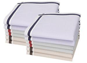 Betz 12 Stück Herren Stoff Taschentücher Set Leo 3 100%Baumwolle Größe 40x40 cm Farbe - Dessin 6