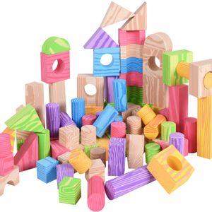 Bauklötze 100 große XL Bunte Bausteine weicher Schaumstoff Holzdesign Steine Pädagogisches Kinder Spielzeug Spielwerk®