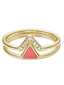 Fossil Damen-Ring Fashion Edelstahl JF02920710, Ringgröße:50 (15.9 mm Ø)