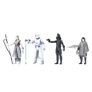 """Star Wars Episode 8 3.75"""" FORCE LINK Home Entertainment 4er Pack"""