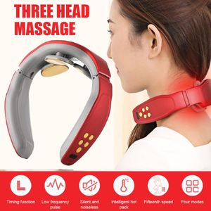 Nackenmassagegerät, Nackenmassagegerät, Elektrisches Puls-Nackenmassagegerät, Smart Massagegerät, Elektro Magnetic Pulse Nackenmassage mit Heizungs-Funktion Geeignet für Haus