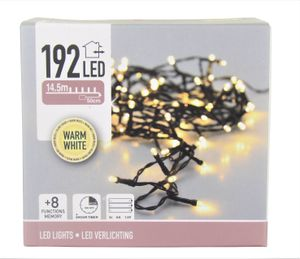 LED-Lichterkette, 192 LEDs, warmweiß, Batteriebetrieb, IP44, Timer