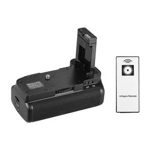 Vertikaler Batteriehalter fuer Nikon D5100 D5200 DSLR-Kamera EN-EL 14 Batteriebetrieben mit IR-Fernbedienung
