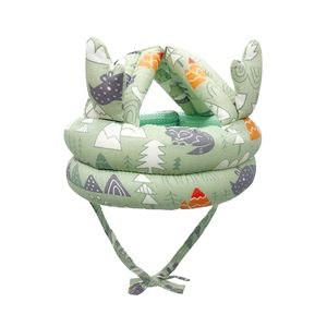 Baby Schutzhelm Weicher Helm Anti Fall Antikollisionskappe Farbe Grün
