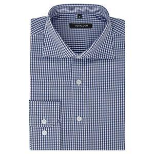 vidaXL Herren Business-Hemd weiß und marineblau kariert Gr. XL