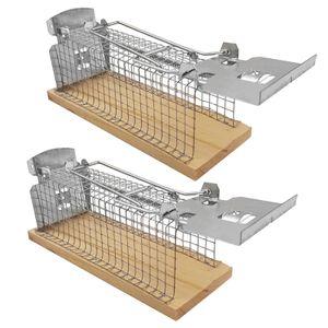 2 x Lebendfalle Mäuse Mausefalle Drahtkäfig Kastenfalle Mäusefalle lebend Falle