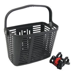 Fahrradkorb vorne, schwarz mit Schnellbef. PLAZA