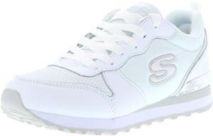 SKECHERS 111/WSL OG 85-Goldn Gurl Damen Sneaker weiß/silber, Größe:39, Farbe:Weiß